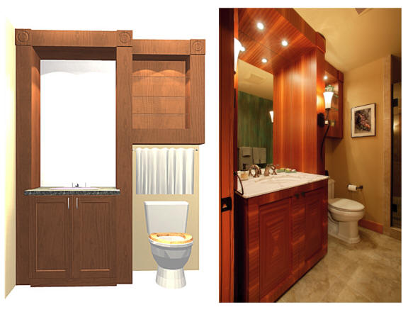 View more about Custom Cabinetry - Powder Room