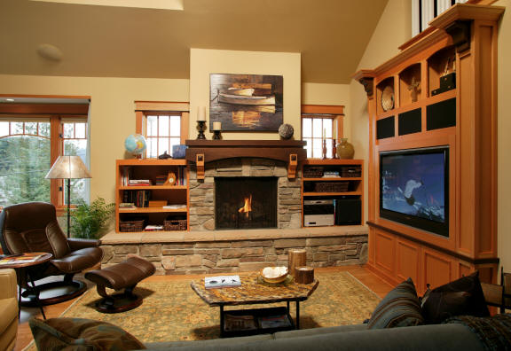 View more about Custom Cabinetry - Fireplace Mantel and Entertainment Center